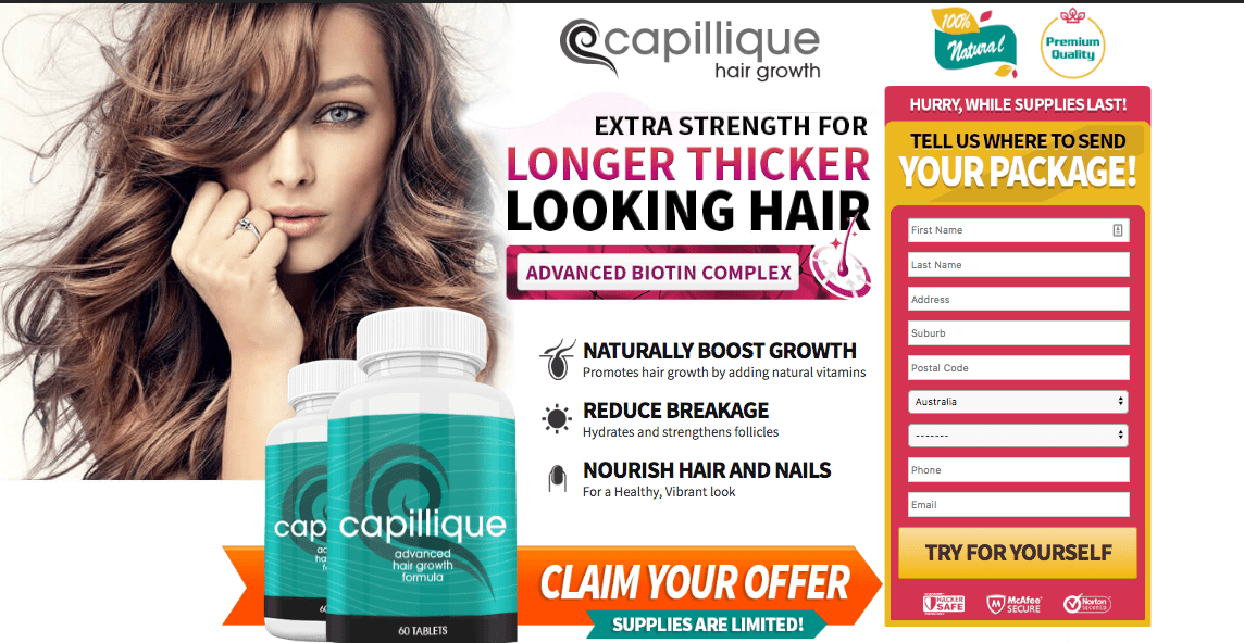Capillique Advanced Hair Growth Formula: Stronger, Thicker, & Healthier Hair